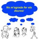 Hacer los deberes con los amigos en Ventall de lletres sabadell