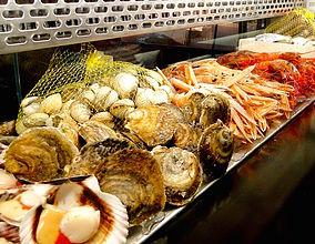 marisco fresco en la peixateria