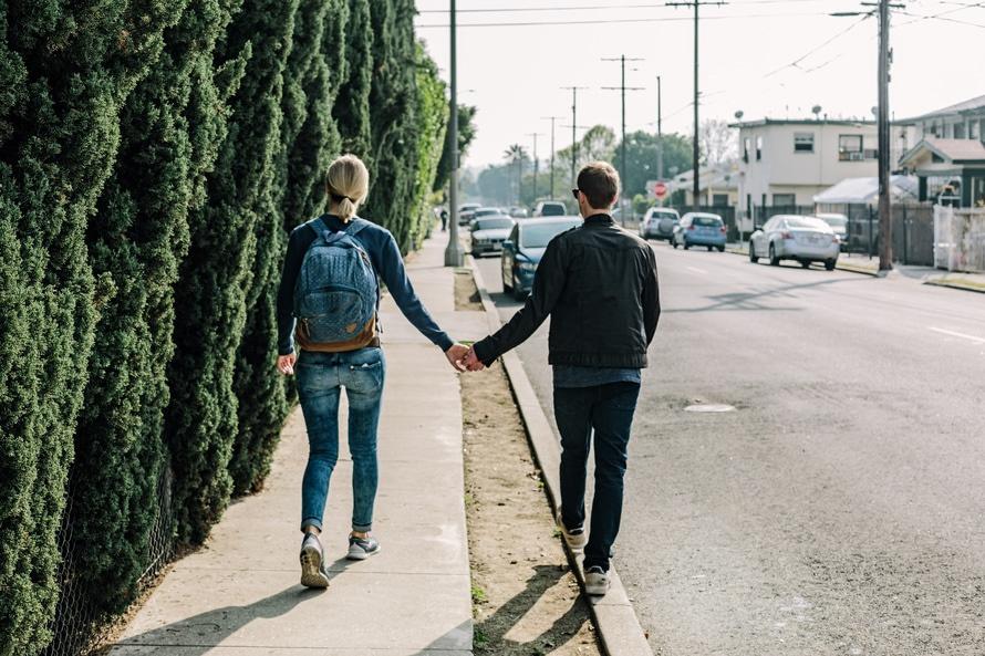 paseo en pareja