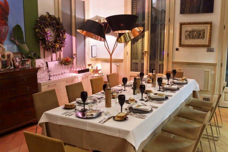 Mesa para grupos restaurante