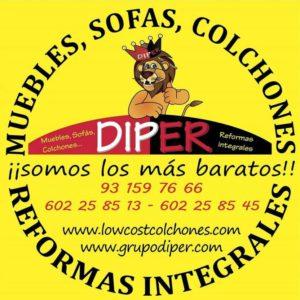 Diper sabadell los muebles para tu hogar al mejor precio for Sofas al mejor precio